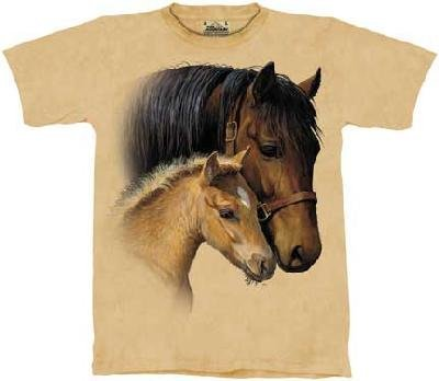 The Mountain Gentle Touch Horse Pony Tee T-Shirt Adult L front-573251