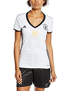 adidas Damen UEFA EURO 2016 DFB Heimtrikot Replica, weiß/schwarz, M, AA0137