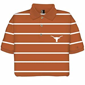 Texas Longhorns Striped Polo Shirt by Chiliwear LLC