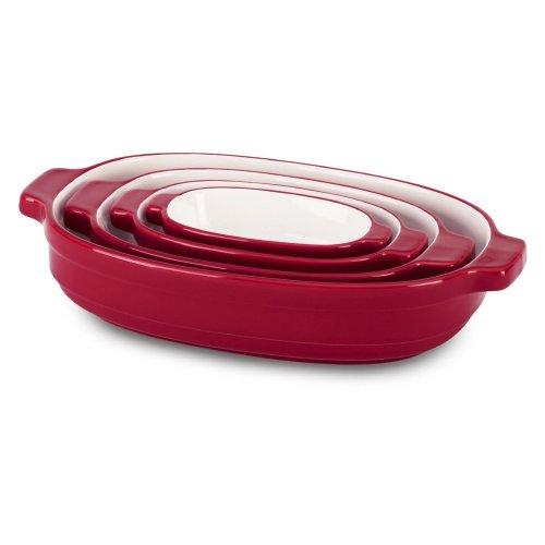 Kitchenaid Kblr04Nser 4-Piece Nesting Ceramic Casserole, 0.3-Quart/0.7-Quart/1.5-Quart/3.5-Quart front-125311
