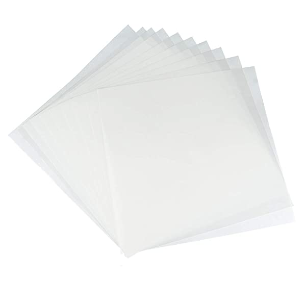 JINSEY Make Your Own Stencil - 10 Pack 6 Mil 12 x 12 inch Blank Stencil Sheets - Ideal Use Compatible Cricut & Silhouette Machines (Mylar Material) (Color: 10 Pack 12 X 12 Inch, Tamaño: as picture)