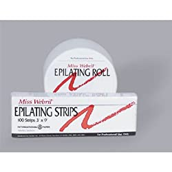 "Miss Webril 3"" x 9"" Epilating Strips"
