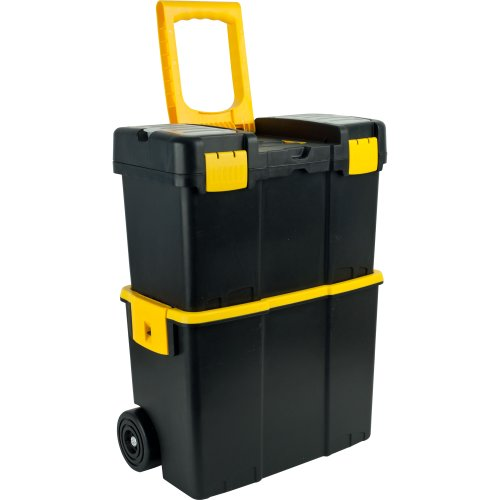 Stalwart 75-3042 Stackable Mobile Tool Box with Wheels