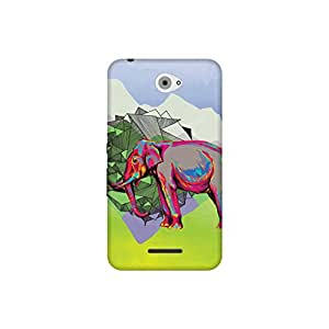 The Racoon Lean Elephant Dimensions hard plastic printed back case / cover for Sony Xperia E4