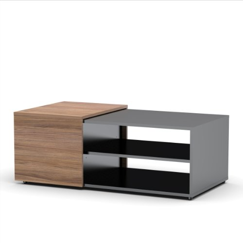 Next Coffee Table 600736 from Nexera, Black and Walnut (Glass Extension Table compare prices)