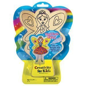 Creativity For Kids Wood Craft Fairy to Decorate