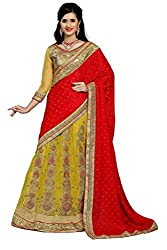 silvermoon women's jacquard embroidered free size fancy saree-sm_NMD2A231_red_free size