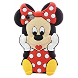 New 3D Cute Cartoon Mouse Soft Silicone Case Cover for Apple iPhone 5