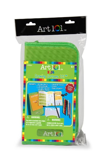Art 101 Kids Drawing Cartoons in Zipper Bag