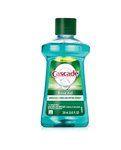 Cascade Rinse Aid, Dishwasher Rinse Agent, Original Scent 8.45 Fl Oz (Pack of 2) (Cascade Platinum Rinse Aid compare prices)