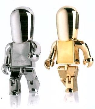 Cool metal Robot 8 GB USB Flash Drive - silver