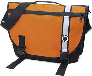 DadGear Courier Diaper Bag - Orange Retro Stripe
