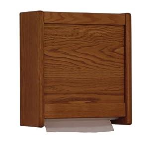 Wooden Mallet C-Fold/Multi-Fold Towel Dispenser, Medium Oak