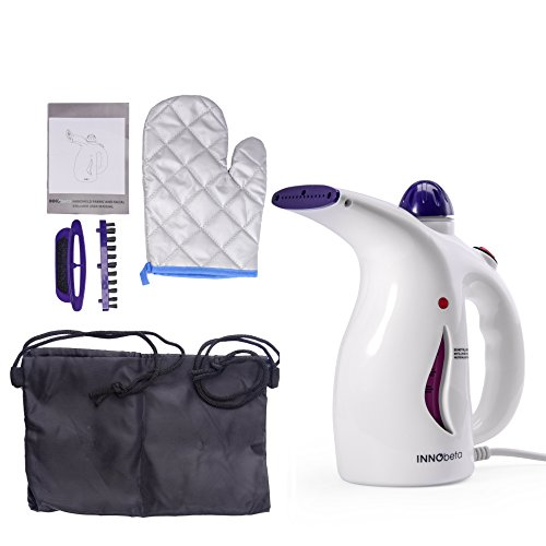 InnoBeta Garment Steamers Pulitore a Vapore Mini Ferro da Stiro e Sauna per il Viso 2 in 1 per Travels & Casa