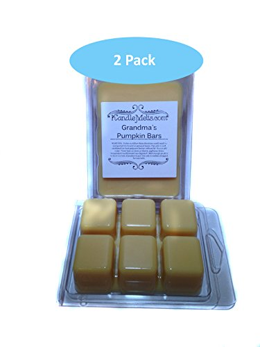 Grandma'S Pumpkin Bars Candle Wax Tart Melts 6.4 Oz Scented 2 Pack - The Aroma Of Creamy Pumpkin Pie Filling With Rich Eagle Brand Milk; Surrounded With Freshly Baked Yellow Cake, Melted Butter, Pecans, And Hints Of Spice. A Best Seller! For Use In Standa