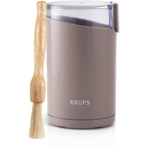 Krups Brown Fast Touch Oval Electric Spice and Coffee Grinder with Free Cleaning Brush