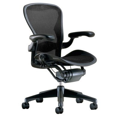 Beautiful Aeron Chair by Herman Miller Highly Adjustable Graphite Frame Lumbar Pad True Black Large