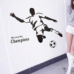 Winhappyhome Campeones FúTbol Deportes Bricolaje Pegatinas De Pared Para La Sala De Estar Dormitorio TelóN ExtraíBles DecoracióN Adhesivos