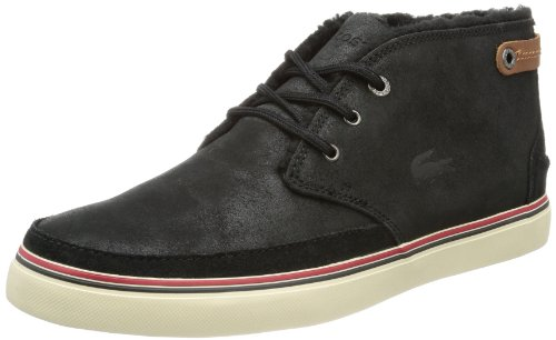 Lacoste 726SRM0001024 - Zapatillas de cuero para hombre, Black, 42.5