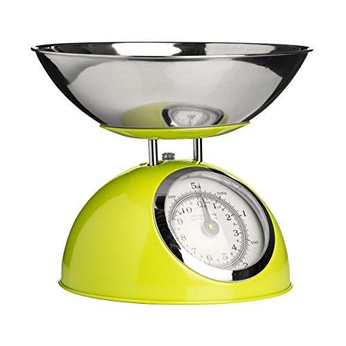 Premier Housewares 0807280 Balance de Cuisine Electronique avec Bol Acier Inoxydable Vert