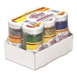 New-Pacon 91370 - Spectra Glitter, .04 Hexagon Crystals, Assorted, 4 oz Shaker-Top Jar, 6/Pack - PAC91370