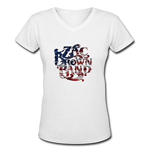 AOPO ZBB Zac Brown Band Logo V-Neck Short Sleeve Tee Shirts For Women Small (Chris Brown Sheet Music compare prices)