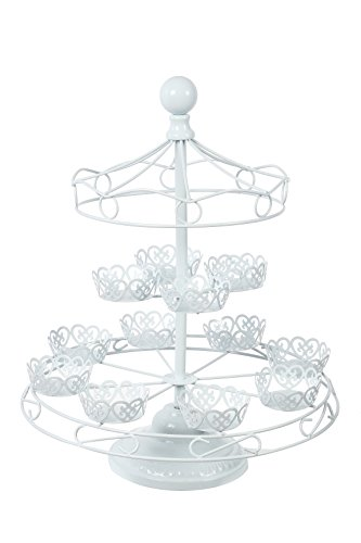 Carousel Cupcake Rack Holder - Holds Up To 10 Cupcakes - By Juvale (Carousel Cupcake Stand compare prices)