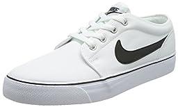 Men\'s Nike Toki Low Textile Shoe White/Black Size 9 M US