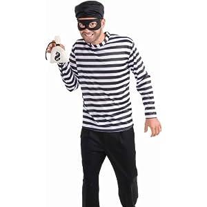 Burglar Adult Costume 強盗の大人用コスチューム♪ハロウィン♪サイズ:Standard One-Size