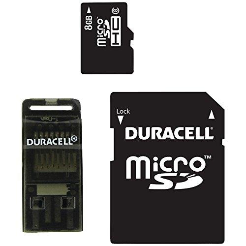 Duracell 8GB Class 8 microSDHC Memory Card..