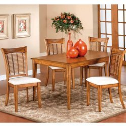 Fabulous Glenmary Bayberry Piece Dining Set with Four Wicker Chairs Hillsdale Wicker Patio Furniture