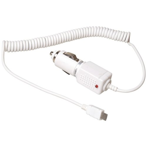 KFZ Ladekabel Auto Ladegerät Kabel Autoladekabel micro USB 1A weiss für Samsung T359 Smiley :) T479 Gravity 3 T669 Gravity Touch T939 i350 M220 M240 M320 M330 M350 Seek M540 Rant M550b Exclaim M560 Reclaim M570 Restore M630 Highnote M850 M900 Instinct Q M910 Intercept M920 Transform Moment Galaxy S3 I9300