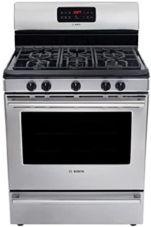 "Bosch HGS5053UC 500 30"" Stainless Steel Gas Sealed Burner Range - Convection"