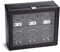 Wolf Designs 270702 Heritage Collection 2.1 Six Watch Winder with Cover
