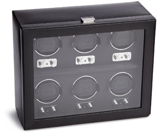 Wolf Designs Wolf Designs 270702 Heritage Collection 2.1 Six Watch Winder with Cover