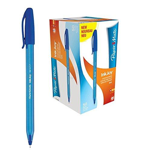 papermate-inkjoy-100-boligrafo-color-azul-caja-de-50-unidades