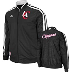 Los Angeles Clippers adidas Home Weekday 2012-2013 Authentic On-Court Jacket - Black by adidas