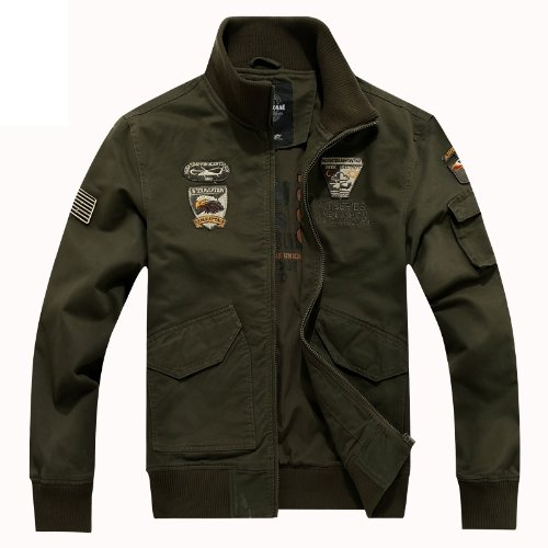 MRPK ミリタリー 空軍 ブルゾン ジャケット サファリ カジュアルセレブ セレカジ スタイル メンズ LEON オリジナルブレスレット BNXX77 (M, アーミーグリーン)