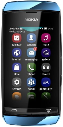 Brand New Nokia Asha 306 Blue Factory Unlocked GSM PHONE GSM 850/1900 US Version