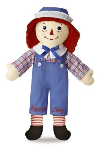 "Raggedy Andy Classic Doll 25"" by Auromere TOY (English Manual)"