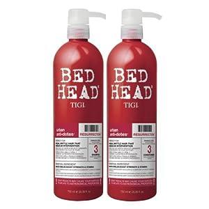 TIGI Bed Head Urban Antidotes Resurrection Shampooing 750 ml et soin 750 ml