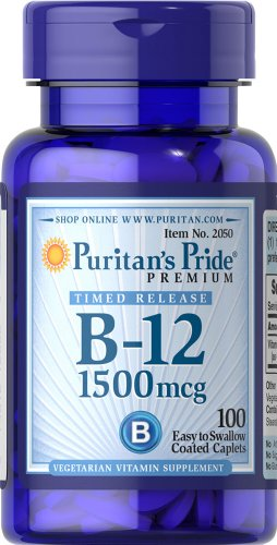 Puritan'S Pride Vitamin B-12 1500 Mcg Timed Release-100 Tablets