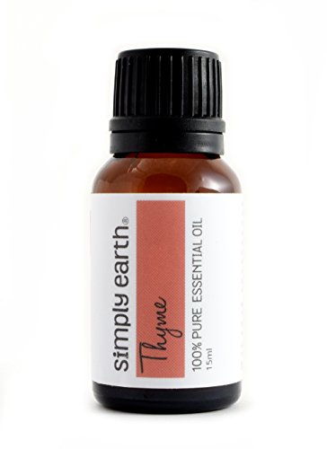 Thyme Essential Oil by Simply Earth - 15 ml, 100% Pure Therapeutic Grade