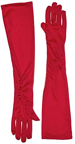 Secret Wishes Long Red Costume Gloves, Red, One Size - 1