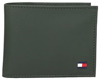 Tommy Hilfiger Men's Dore Passcase Billfold, Green, One Size