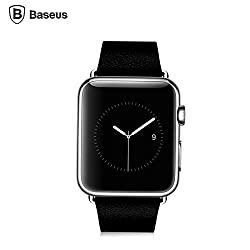 Baseus iWatch Genuine Leather Replacement Strap Wrist Band Straps for Apple Watch 38mm Classic Buckle & Modern Buckle (2015)