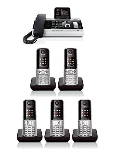 Gigaset Dx800A Landline Pro Cordless Phone With 5 X S810H Handsets System