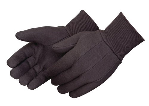 Liberty 4503P/SP Cotton/Polyester Mediumweight Jersey Glove, Brown/Balck (Pack of 12)