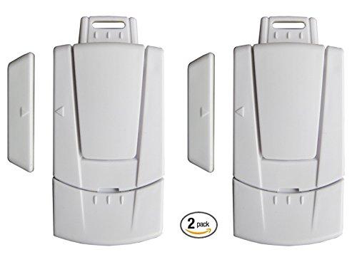 Instapark IN03C Home Security Window / Door Magnetic Sensor Alarm, 2-Pack