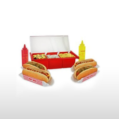 HOT DOG CONDIMENT SET - BACKYARD BBQ - PARTY SET